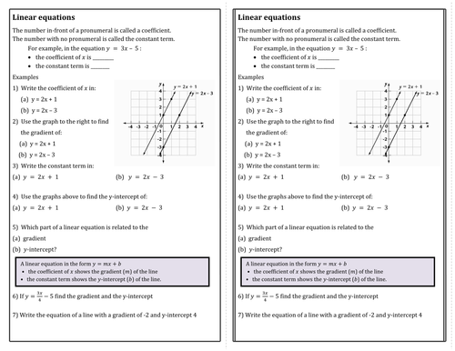 Linear Equations Worksheets By Tompark1 Uk Teaching