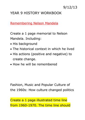 Year 9 History Workbook