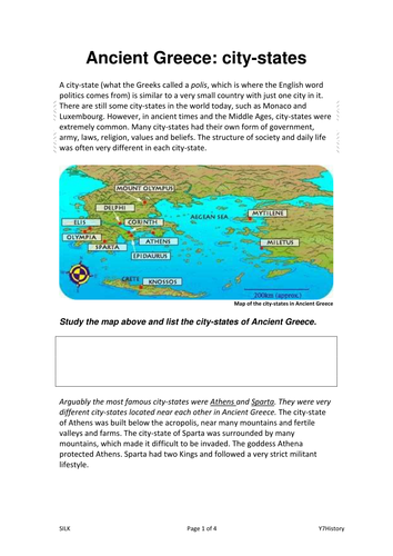 ancient greece city states by jade lfc23 teaching resources tes. Black Bedroom Furniture Sets. Home Design Ideas