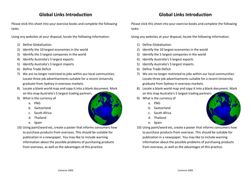 Global Links introduction websearch