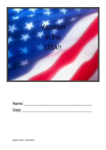 Journal of vacation in America