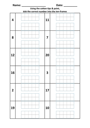 Ten Frames 1-20 Place Value by chrissybswps - Teaching Resources - Tes