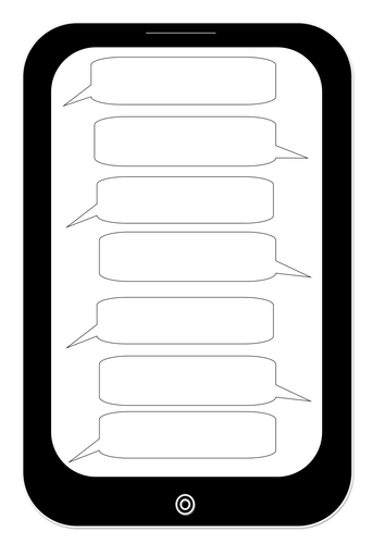 Worksheet Matching Cell Phone Texting : Text message template by suzbrawn teaching resources tes