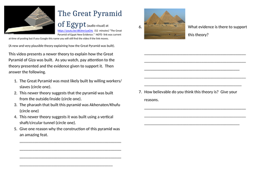How were the pyramids built? Great Pyramid Giza