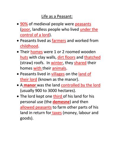 Peasant Life in Medieval Europe