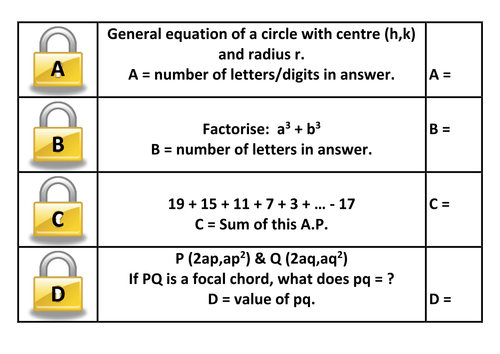 crack the code answer key