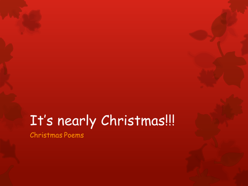 KS2 Poetry Quatrain Rhyme Schemes - Christmas/Holiday theme!