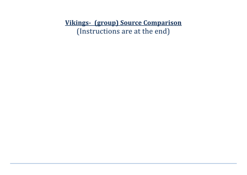 Vikings Source Analysis Group Work Activity