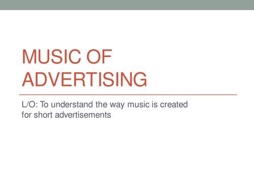 Music of Advertising KS3