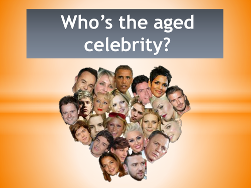 End of Year Quiz - Who's the aged celebrity