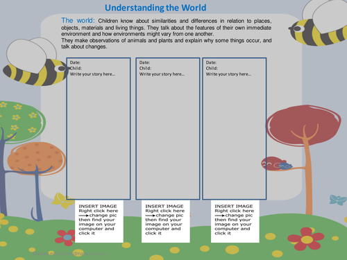 EYFS- Editable Learning Journey Template- Understanding the World