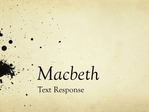 macbeth text responce