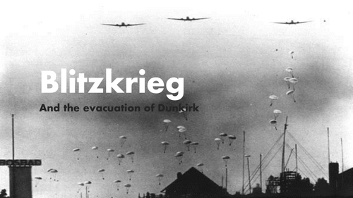 Blitzkrieg powerpoint and map activity
