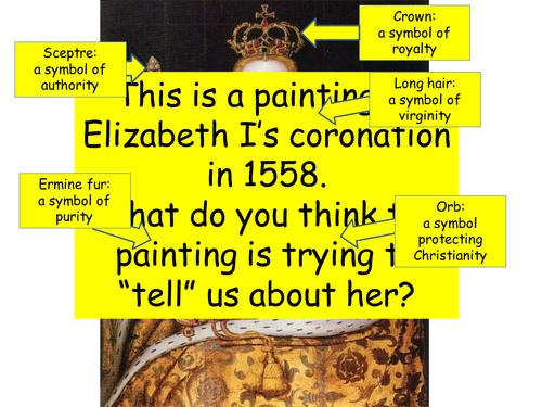 Paint a portrait for Elizabeth I