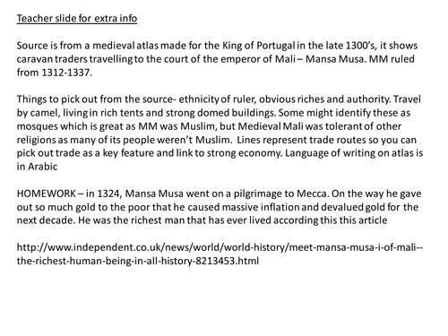 Mansa Musa and Medieval Mali