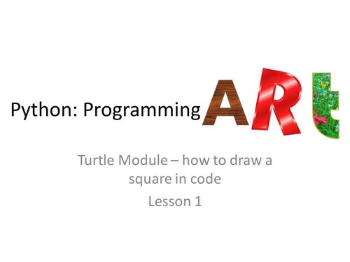 Art in Python Lesson 1/4