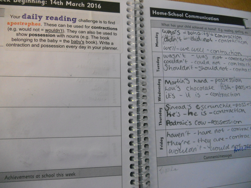 Grammar, punctuation and spelling  daily reading task stickers