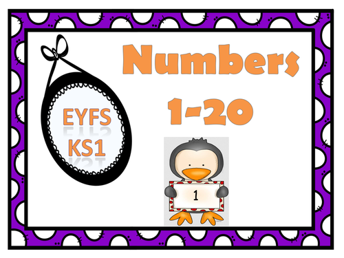 Classroom Display Numbers 1-20 Theme :- Penguins