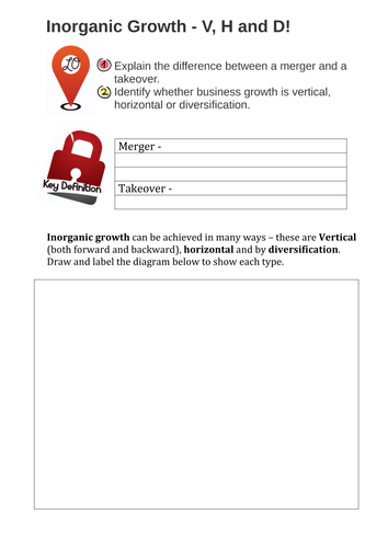Business Growth - Organic and Inorganic (Internal and External)