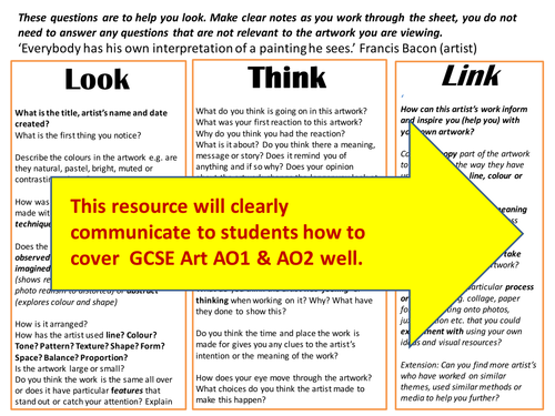support for gcse art annotation by artyspice teaching resources tes. Black Bedroom Furniture Sets. Home Design Ideas