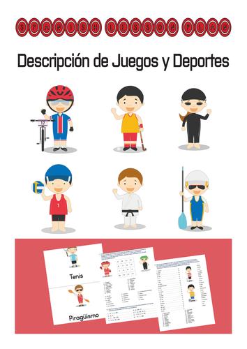 Spanish Lesson Plan: Descripcion de Juegos y Deportes