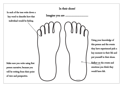 In their shoes empathy task by K8SUE Teaching Resources TES – Empathy Worksheets