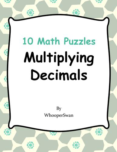 Multiplying Decimals Puzzles