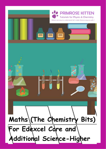 Maths (The Chemistry Bits) for Edexcel Triple Science - Higher. Inc.Answers