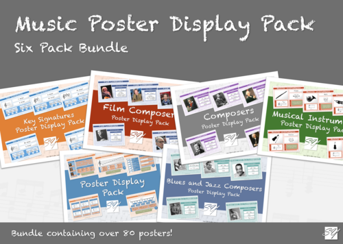Music Classroom Poster Display Bundle