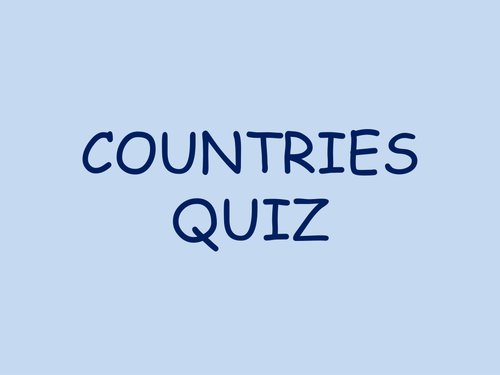 Form time - Guess the country quiz