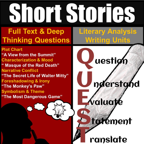 Short Story Unit: Literary Analysis & Essay Writing