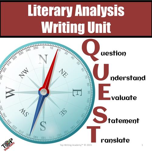 Literary Analysis Essay Unit