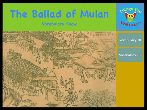 The Ballad of Mulan Vocabulary Show
