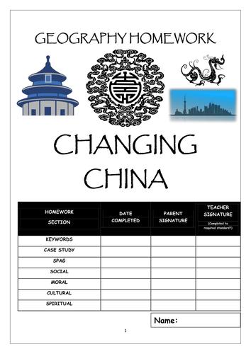 Homework booklet: CHANGING CHINA