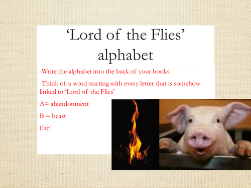 Lord of the flies allegory essay