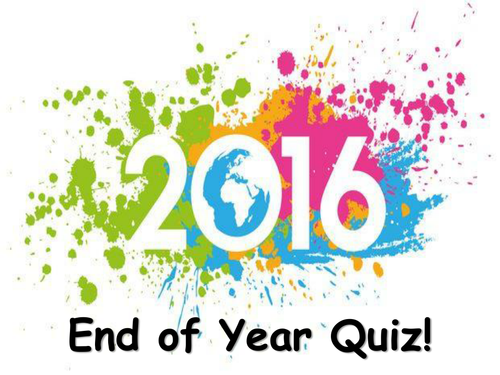 End of year quiz