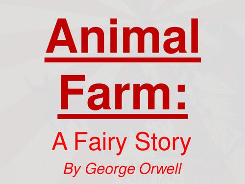 Animal Farm - Unit of Work