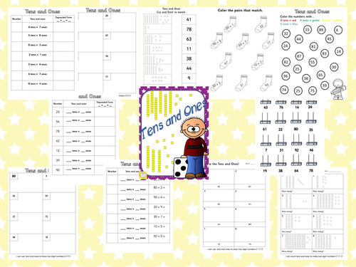 Tens and Ones worksheet Pack