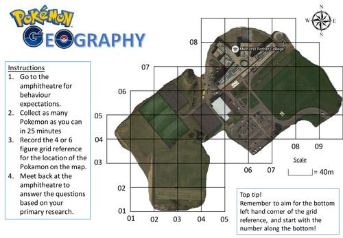 Pokemon Geography Grid Reference Challenge By Paulmjones19