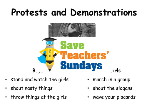 Emily Davison and Suffragettes KS1 Lesson Plan and Worksheet