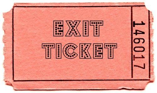 Exit ticket and homework activities