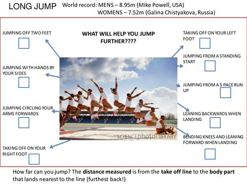 Long Jump Task Sheet