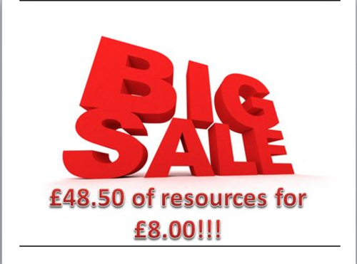 Bargain Sale of Premium Resources - Creative Writing, Descriptive, Non-Fiction, Starters!