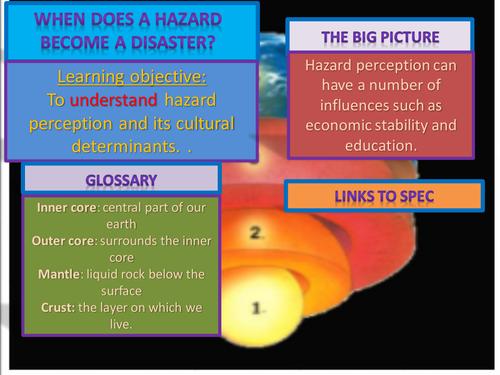 NEW AQA A LEVEL GEOGRAPHY hazard perception.