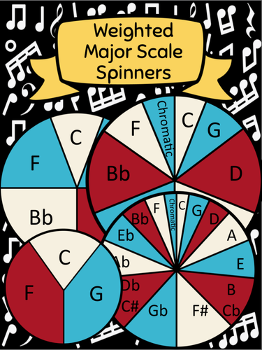 Major Scale Assessment Spinners for Instrumental Students