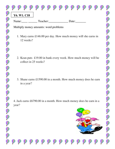 4 multiplication worksheets for ks2 by teachers choice12 teaching resources. Black Bedroom Furniture Sets. Home Design Ideas