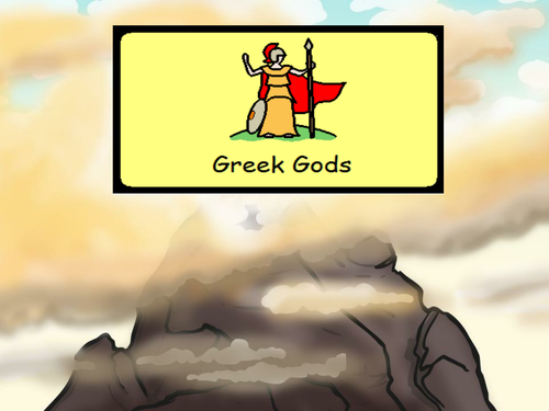 Greek Gods and Goddess' Supported by Widgit Symbols