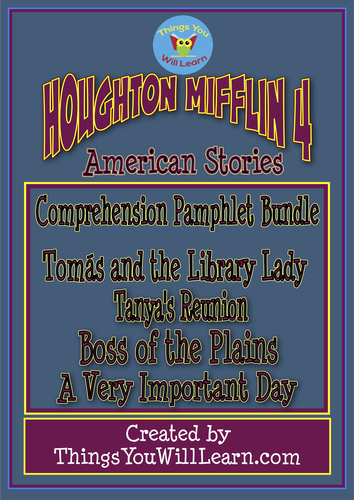 American Stories Comprehension Pamphlets (Houghton Mifflin 4 Theme 2)