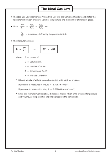 Gas Laws Crossword Quick Starter Activity By Oums0030
