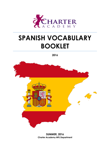 New GCSE Edexcel Spanish Vocabulary List 2016